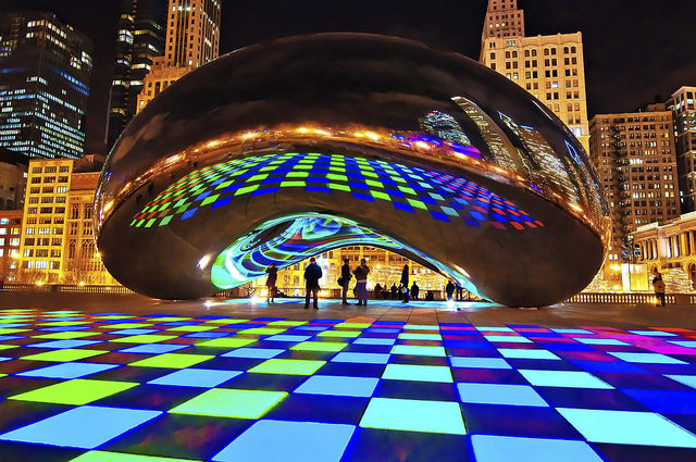 Luminous Field Cloud Gate Chicago Non Duality America